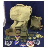 Lot of Vintage Military Fabric/Cloth Items