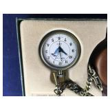 Boxed Phillip Crowe Bald Eagle Pocket Watch and