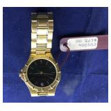Boxed Mens Valentino Gold Tone Watch With Small