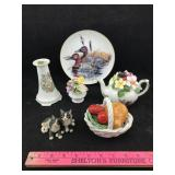 Porcelain Duck Display Plate and More Porcelain
