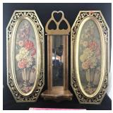 Pair of Syroco Wall Hangings and Mirror