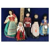5 Old Dolls
