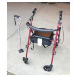 Medline Ultra Light Rollator and Cane