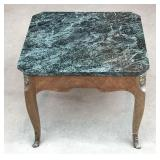 Green Granite Top Table with Curved Legs