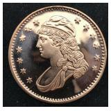 Flowing Liberty 1 AVDP Oz .999 Copper Bullion