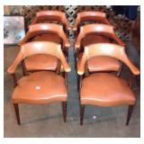Set of six vintage vinyl armchairs