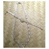 Italian Sterling Silver Riccio Necklace & Bracelet