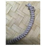 Silver Tone over Brass Diamond Accent Bracelet