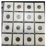 16 Indian Head Cents - Various Dates