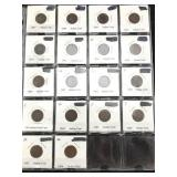 18 Indian Head Cents - Various Dates