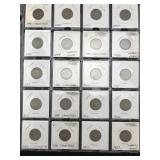 20 V Nickels / Liberty Nickels - Various Dates
