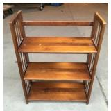 Wooden Collapsible Shelving Unit