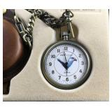 Phillip Crowe Bald Eagle Pocket Watch and Case
