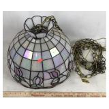 Hanging Stained Glass Style Lamp