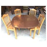 Pine Dining Room Table Set w/ 4 Chairs