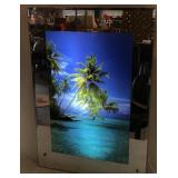 Lighted Seaside Palm Tree Mirrored Wall Hanging