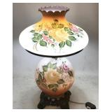 Handpainted Vintage Hurricane Lamp
