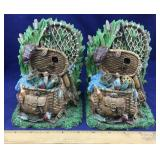 Fishing Basket Bookends