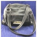 Large Black Leather B Makowsky Purse