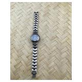 Ladies Heavy Silver Tone Armitron Link Bracelet