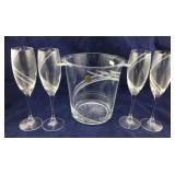 J.G. Durand Crystal Champagne Set
