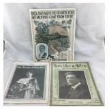 Antique Sheet Music - Three Songs About Ireland