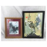 Framed Chinese Art & Framed Victorian Art