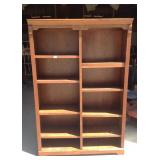 Whalen Furniture oak bookshelf unit
