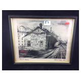 Vintage B and O railroad station print