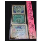 1944 WWII Allied Military Currency