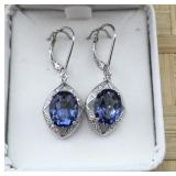 Blue Violet Mystic Topaz Sterling Silver Earrings