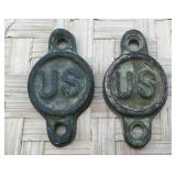 Pair of Civil War Brass US Cavalry Bit, Bridle