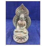 Heavy Carved Brass Buddha