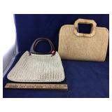Pair of Straw Purses