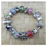 Multi Colored Pandora Type Sterling Accent