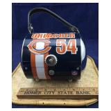 Chicago Bears Metal Barrel Shaped Purse plus
