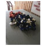 Huge Lot of Artificial Blue and White Roses Plus