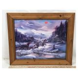 Framed Western Frontier Artwork - Print