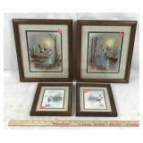 4 Framed Waterfowl Artwork Prints