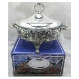 Silver Plated Round Covered Baker