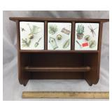Ceramic Drawer Wooden Paper Towel Shelf