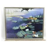 Lilly Pad Artwork by Asoma - Framed Print