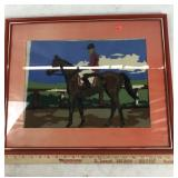 Horse and Jockey Knitted Graphic Picture