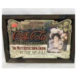 Vintage Coca Cola advertising mirror