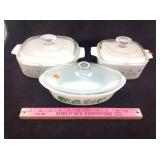 Corning ware and glass bake casseroles