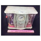 Girls plastic princess musical jewelry box clock