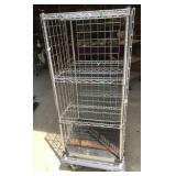 Rolling Industrial Metal Rack Chrome Lined