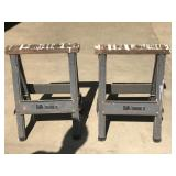 Pair of Metal Sawhorses by Iron Horse