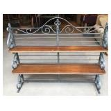 Wrought Iron Display Shelf with Wood Shelves