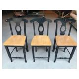 Set of 3 Wood Chairs
